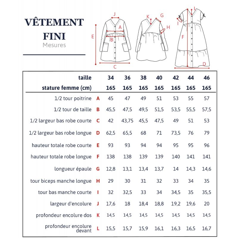 Pattern women dress Anne