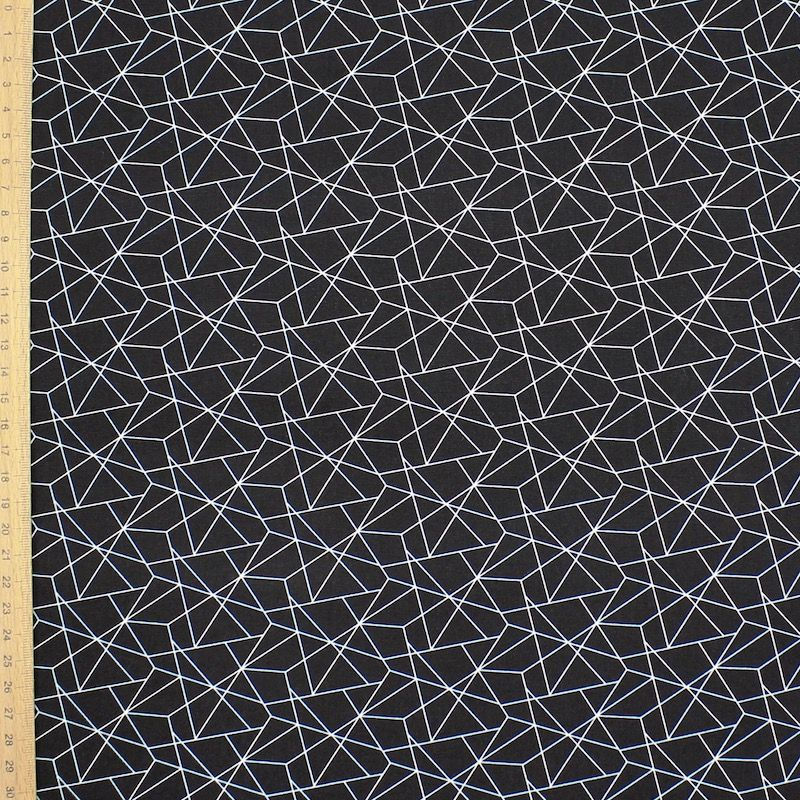 Cotton with graphic print - black