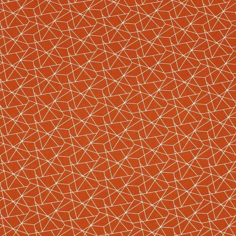 Cotton with graphic print - rust-brown