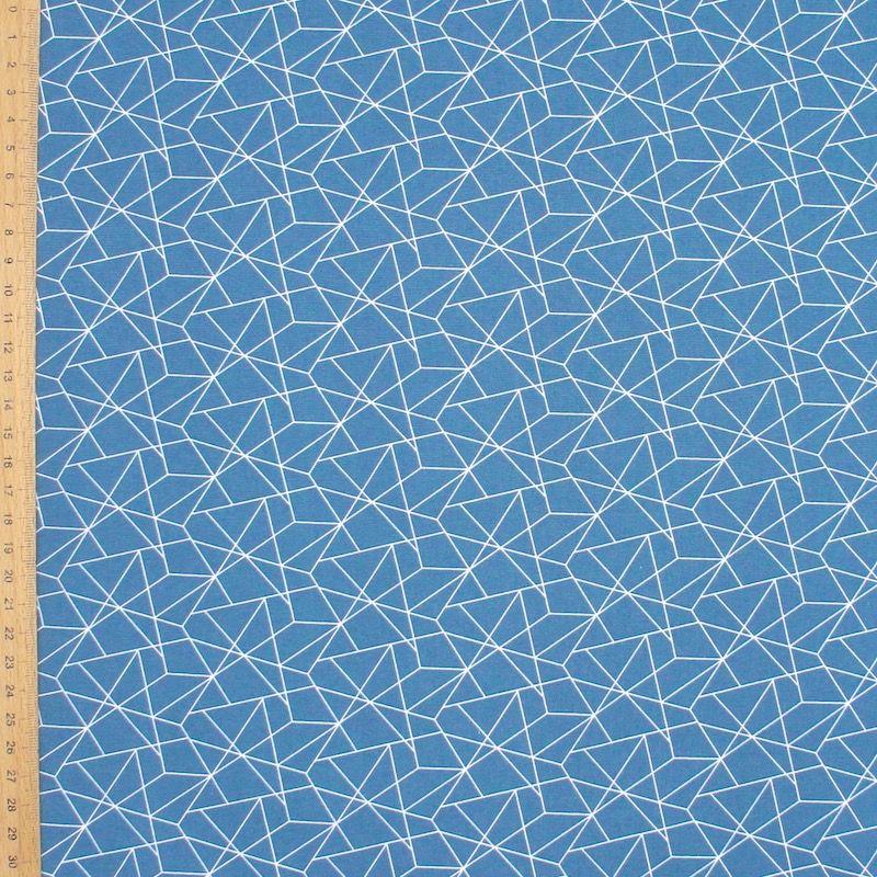 Cotton with graphic print - denim blue
