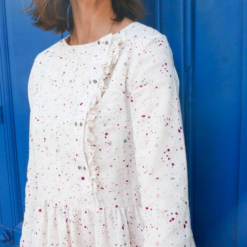 Patron blouse ou robe Elona mum