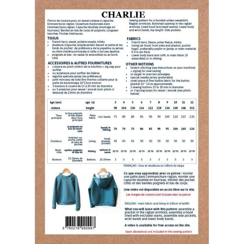 Pattern sweatshirt with hood Charlie