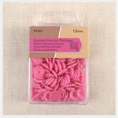 Boîte de 30 boutons pressions rose corail