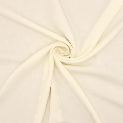 Satin jacquard with dots - ivory