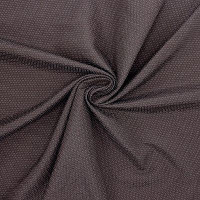 Tissu jacquard brun à rayures