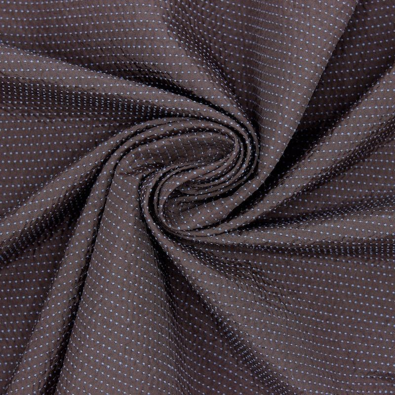 Jacquard fabric with stripes - brown