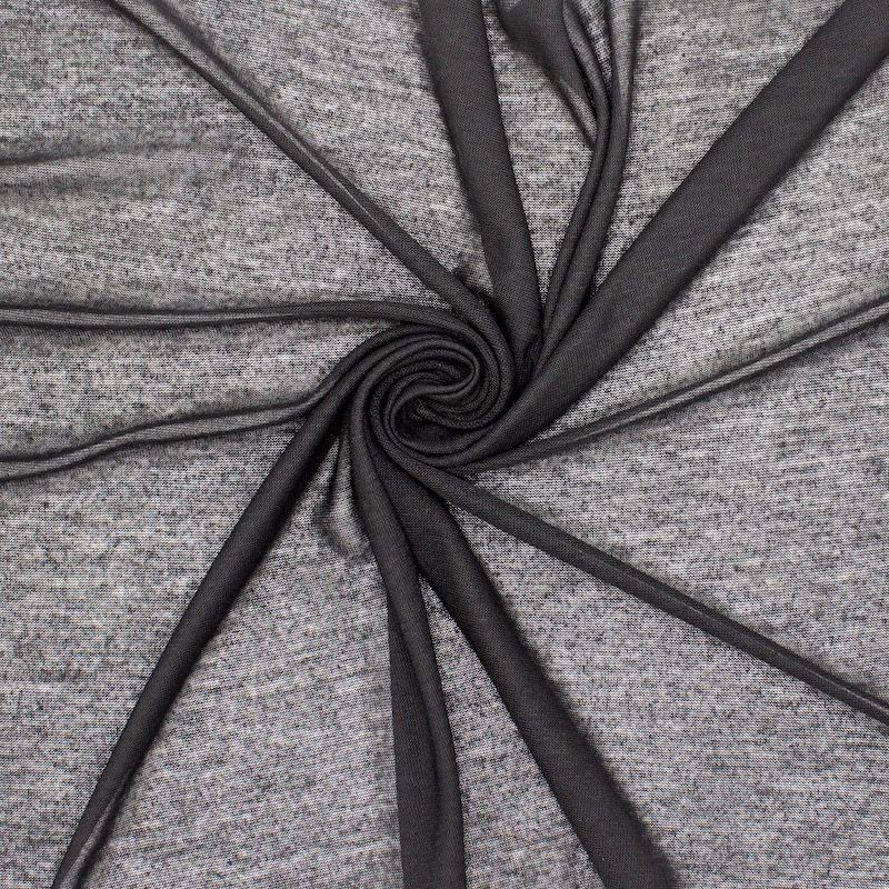 Tissu maille légère polyester - noir