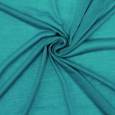 Light knit fabric in polyester - teal
