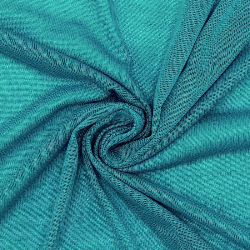 Licht gebreide stof in polyester - eendblauw