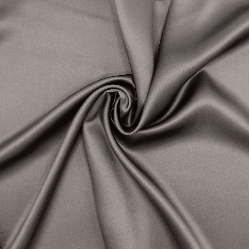 Crêpe with satin wrong side - taupe