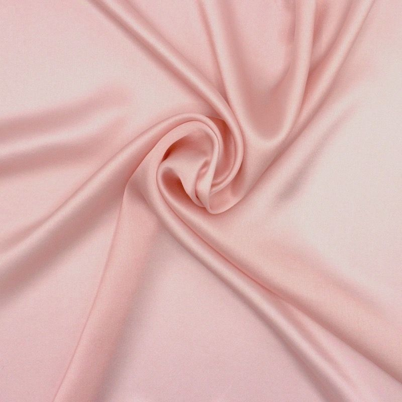 Crêpe with satin wrong side - pink