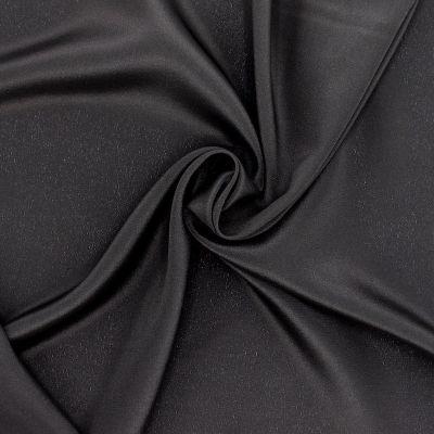 Satijn crêpe 100% zijde - zwart