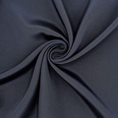 Crêpe 100% zijde - donkerblauw