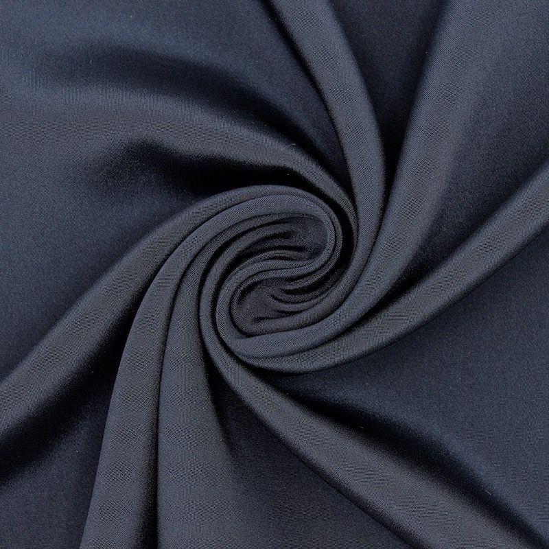 Crêpe fabric 100% silk - midnight blue