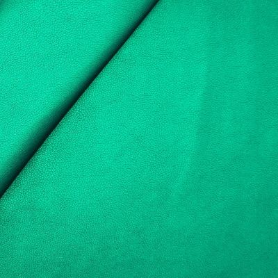 Faux leather - satinized green
