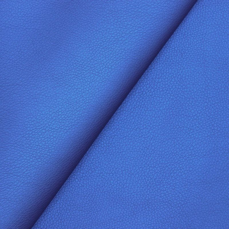Faux leather - satinized royal blue