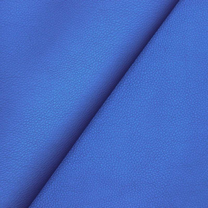Simili cuir bleu roy satiné