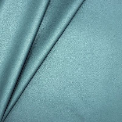 Satinised faux leather - ocean blue