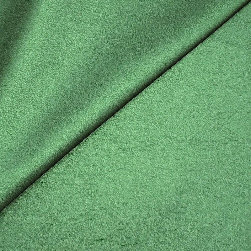 Simili cuir vert sapin satiné