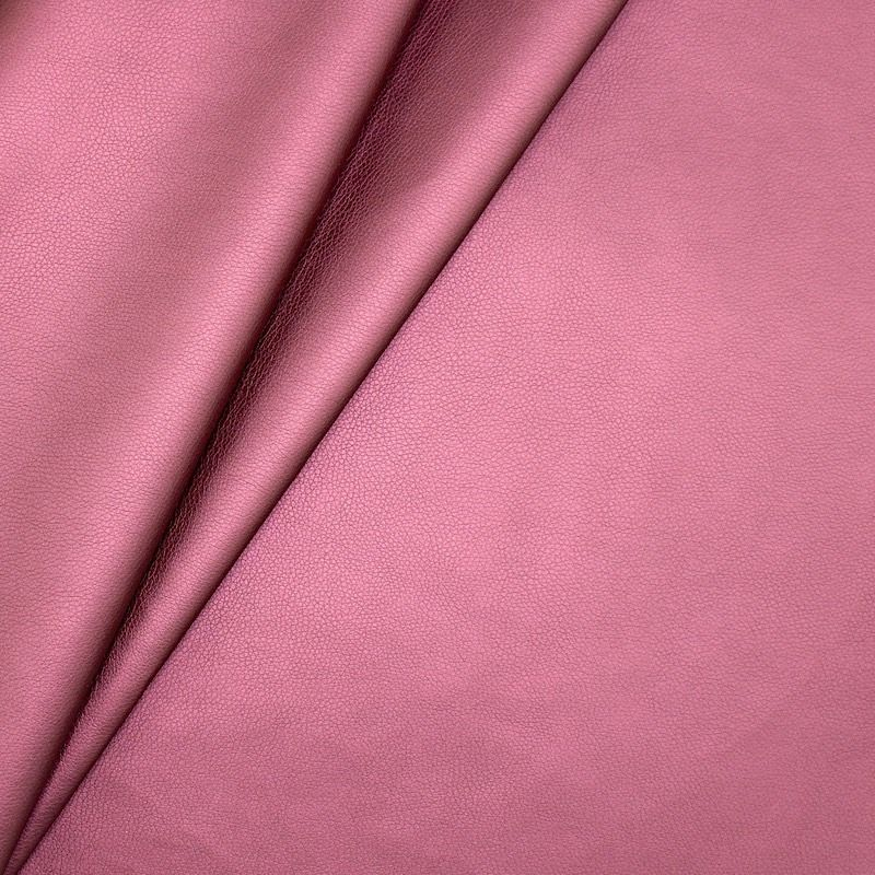 Satinised faux leather - plum
