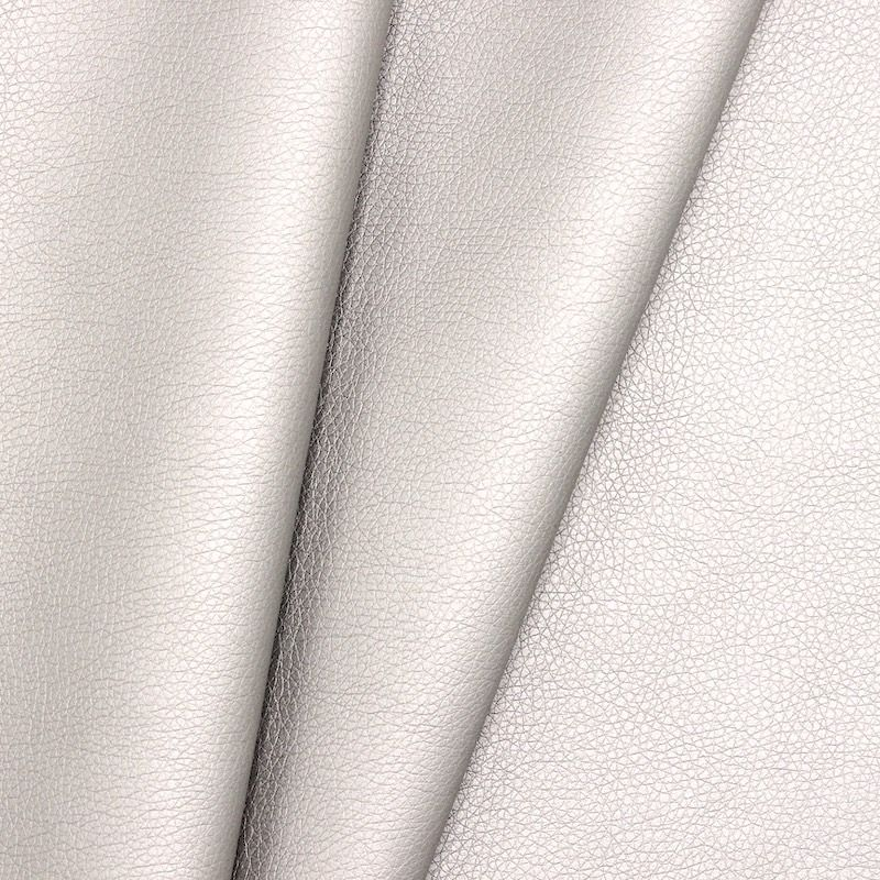 Satinised faux leather - pearl grey