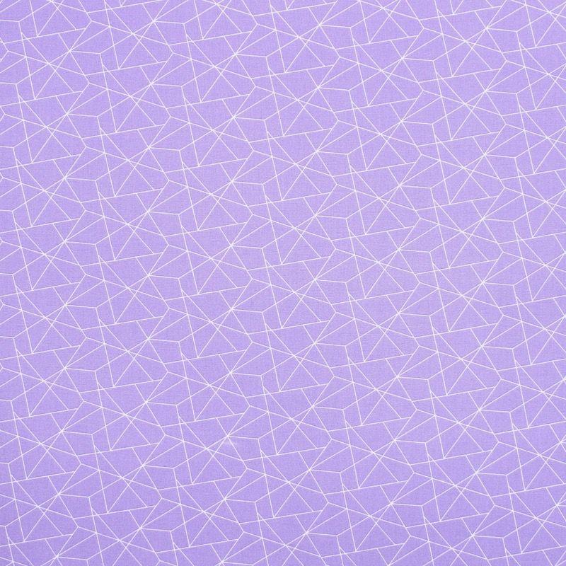 Katoen met geometrische motief - parme