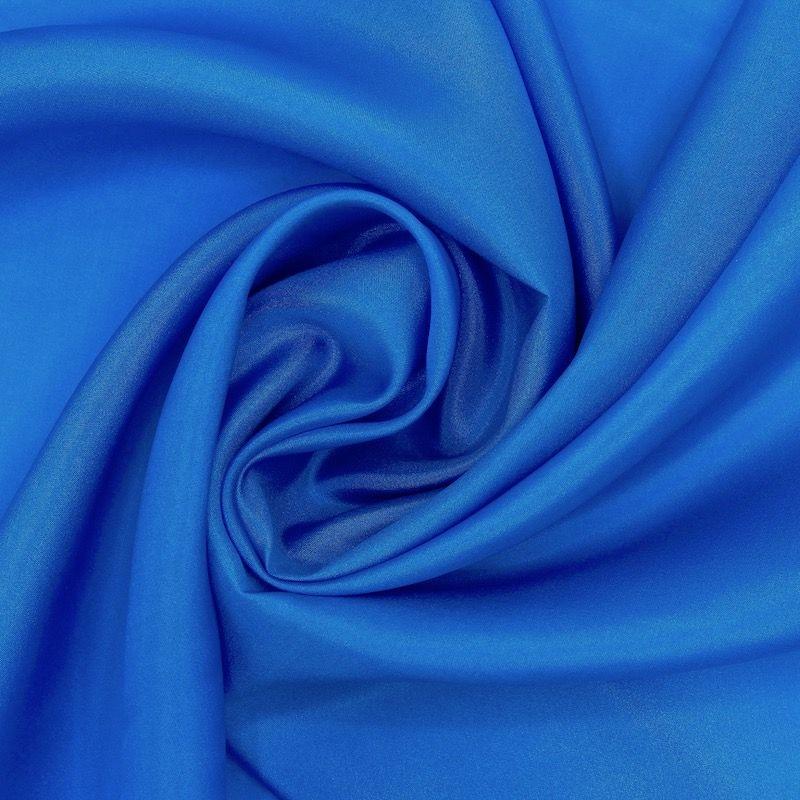 Tissu soie pongé bleu