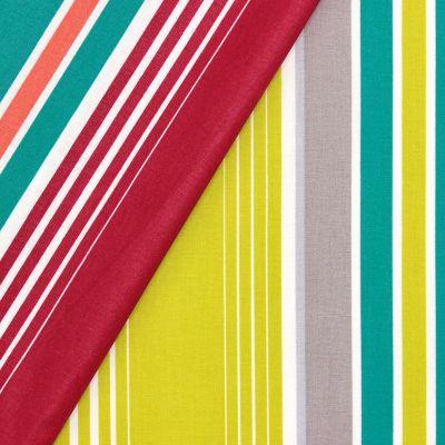 Coton enduit bayadères - multicolores
