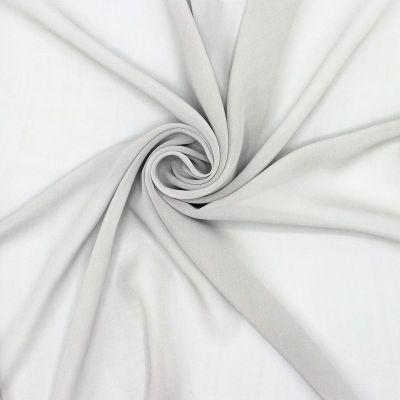 Crêpe veil 100% silk - grey