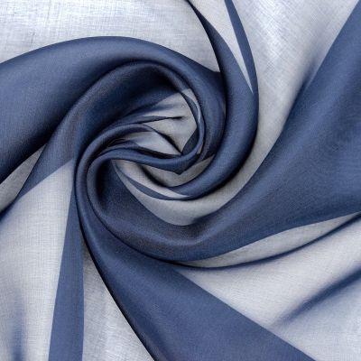 Silk muslin - blue