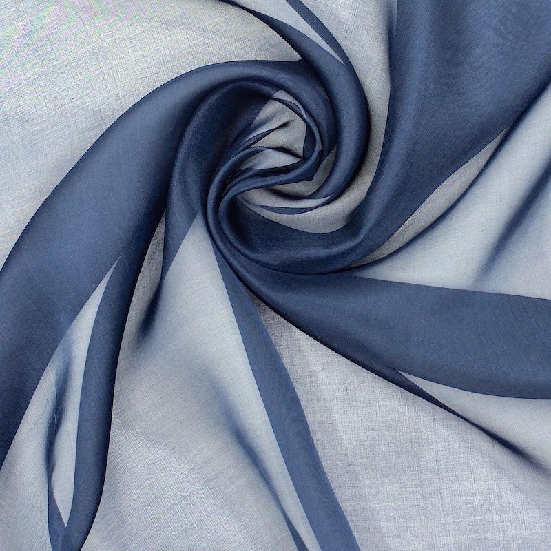 Mousseline de soie - bleu