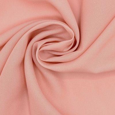 Crêpestof 100% zijde - roos