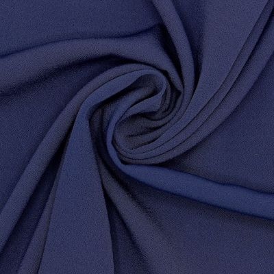 Crêpe fabric 100% silk - navy blue