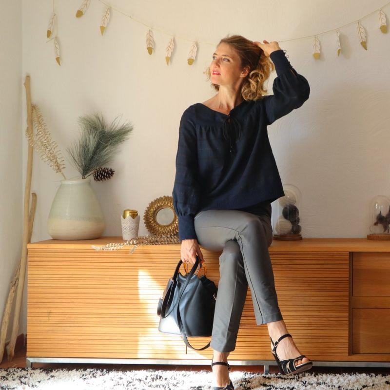 Patroon bloes vrouw Bardot