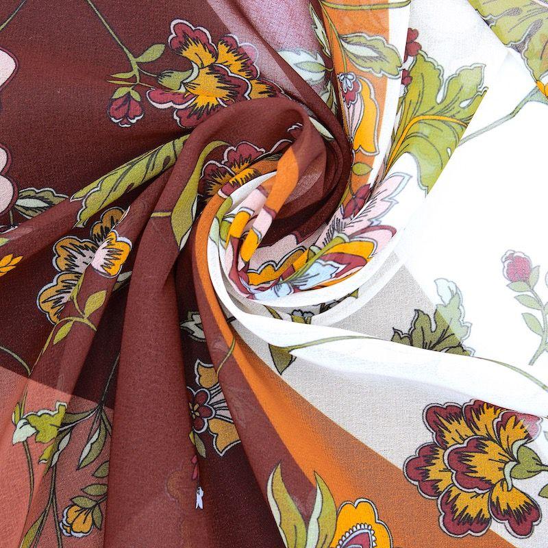 Voile à motif floral - vanille