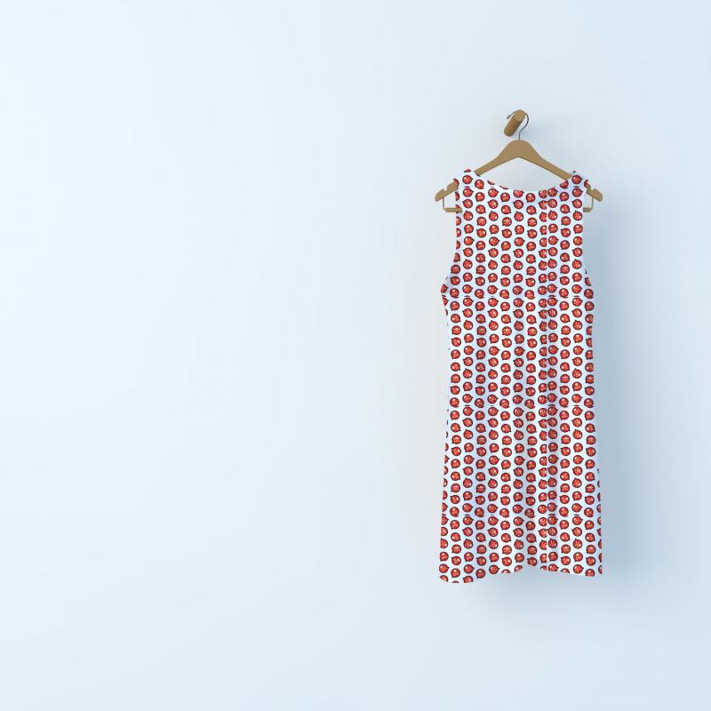 Tissu coton tête de mort - rouge
