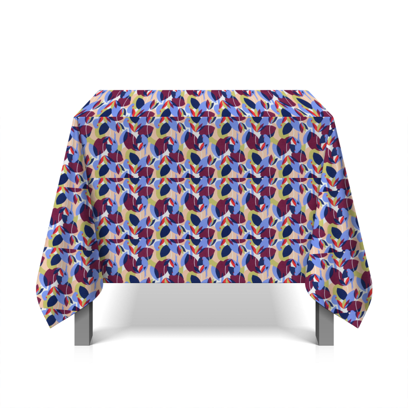 Tissu coton floral - multicolore