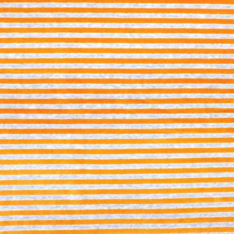 Tissu Nicki velours rayé moutarde