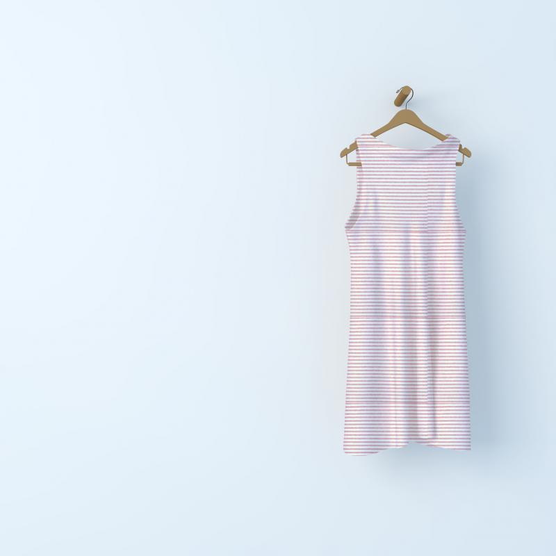 Tissu Nicki velours rayé rose chiné