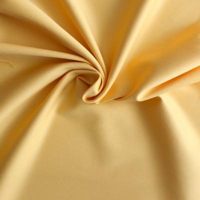 Satin de coton et élasthanne jaune