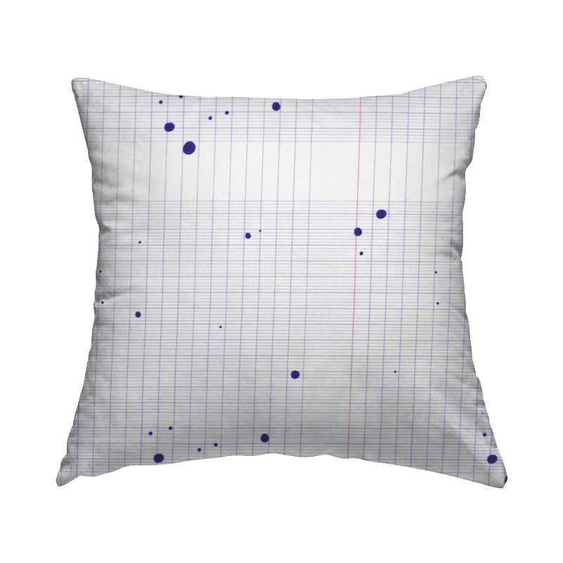 Cotton poplin with stained notebook - white