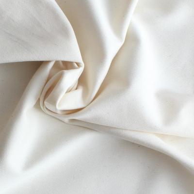 Satin de coton et Spondex blanc