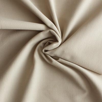 Tissu en coton et élasthanne beige