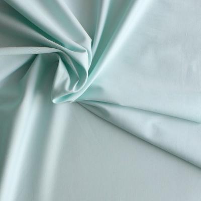 Lichtblauwe katoen en elastaan stof