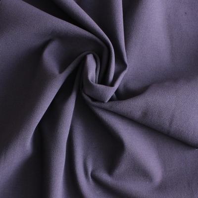Tissu en coton, viscose et élasthanne mauve