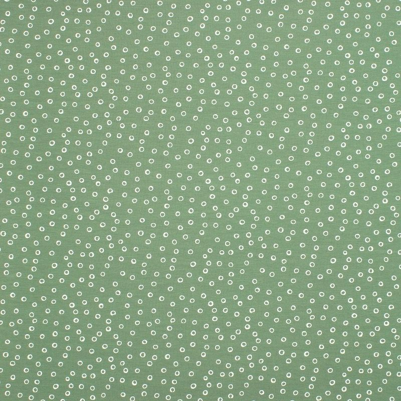 Jersey fabric with bubbles - green