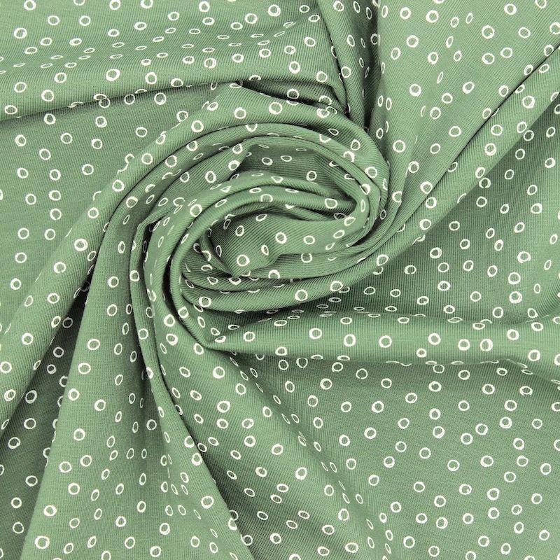 Jerseystof met bubbels - groen