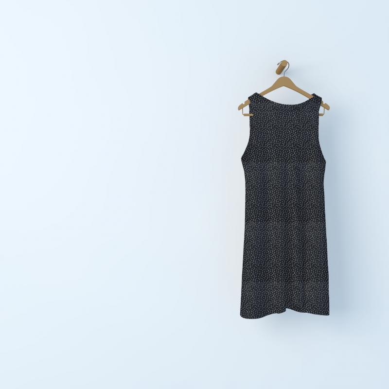 Tissu jersey bulles  - noir