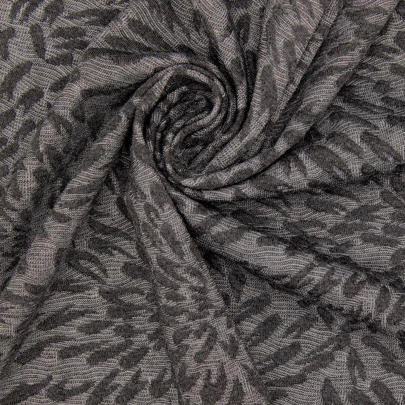 Jacquard jersey fabric - antracite