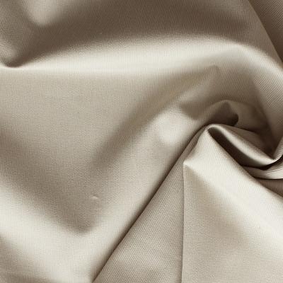 Tissu en coton et polyester beige